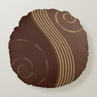 Round Brown Throw Pillow : Brown And Beige Pillows - Decorative & Throw Pillows Zazzle