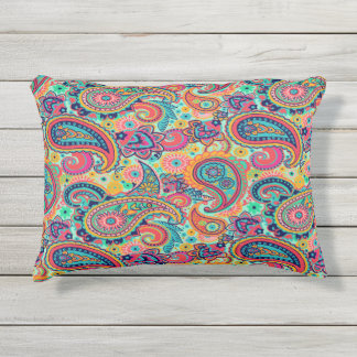 red and blue paisley pillows decorative throw pillows