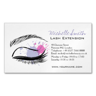 Eyelash extensions business cards templates zazzle for Eyelash business card