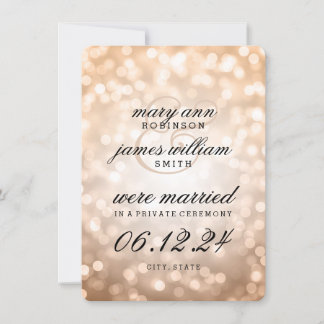 Wedding Gifts For Couples Who Eloped : We Eloped Invitations & Announcements Zazzle