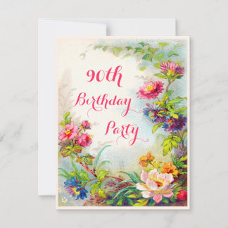 90th Birthday Invitations 1300+ 90th Birthday