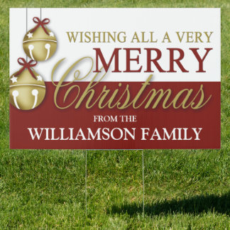 Merry christmas yard lawn signs zazzle for Large outdoor christmas signs