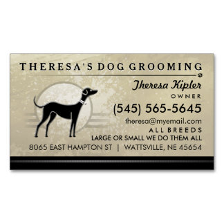 Dog grooming business cards templates zazzle for Grooming business cards