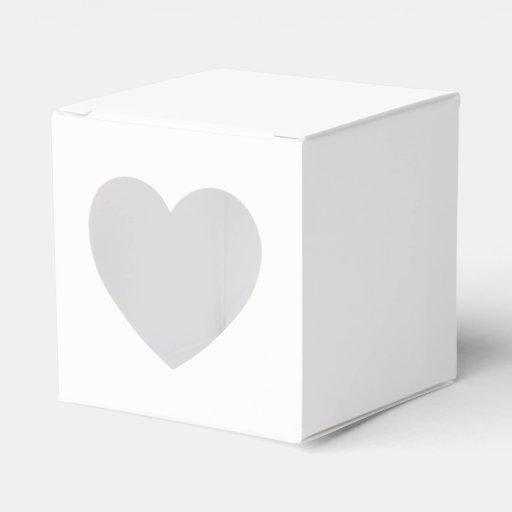 Solid White Party Favor Boxes   Zazzle