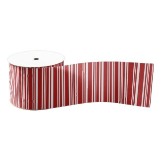 Modern Mixed Red and White Stripes Ribbon
