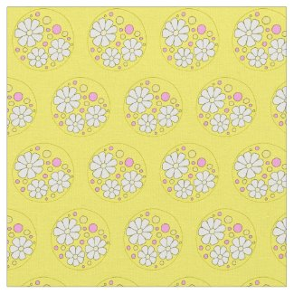 Modern Daisy Flower Daisies Floral Pattern Fabric