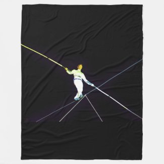 tightrope walking - funambulism fleece blanket