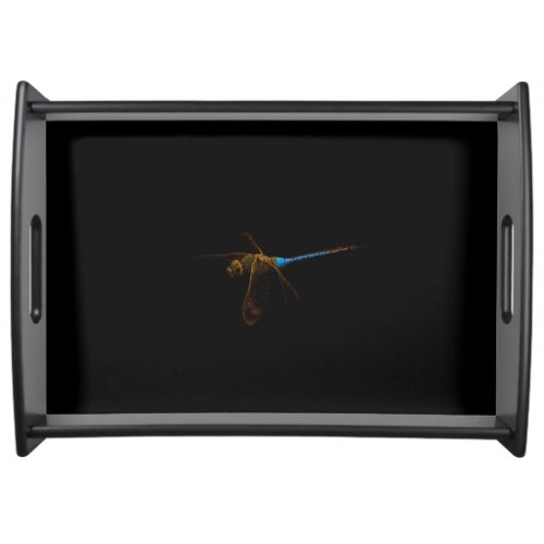 Black Dragonfly Serving Tray