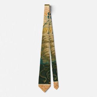 Retro Tobacco Label 1852 Neck Tie