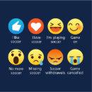 I Love Soccer Emoticon Emoji Funny Sayings T Shirt