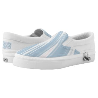 Blue Swoosh Strokes Abstract Printed Shoes