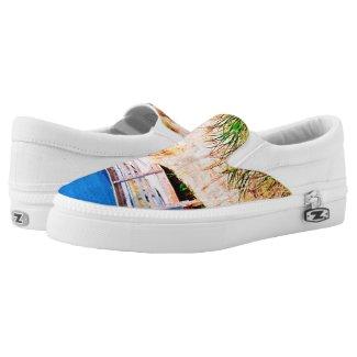 Blue Sky n Beach Printed Shoes