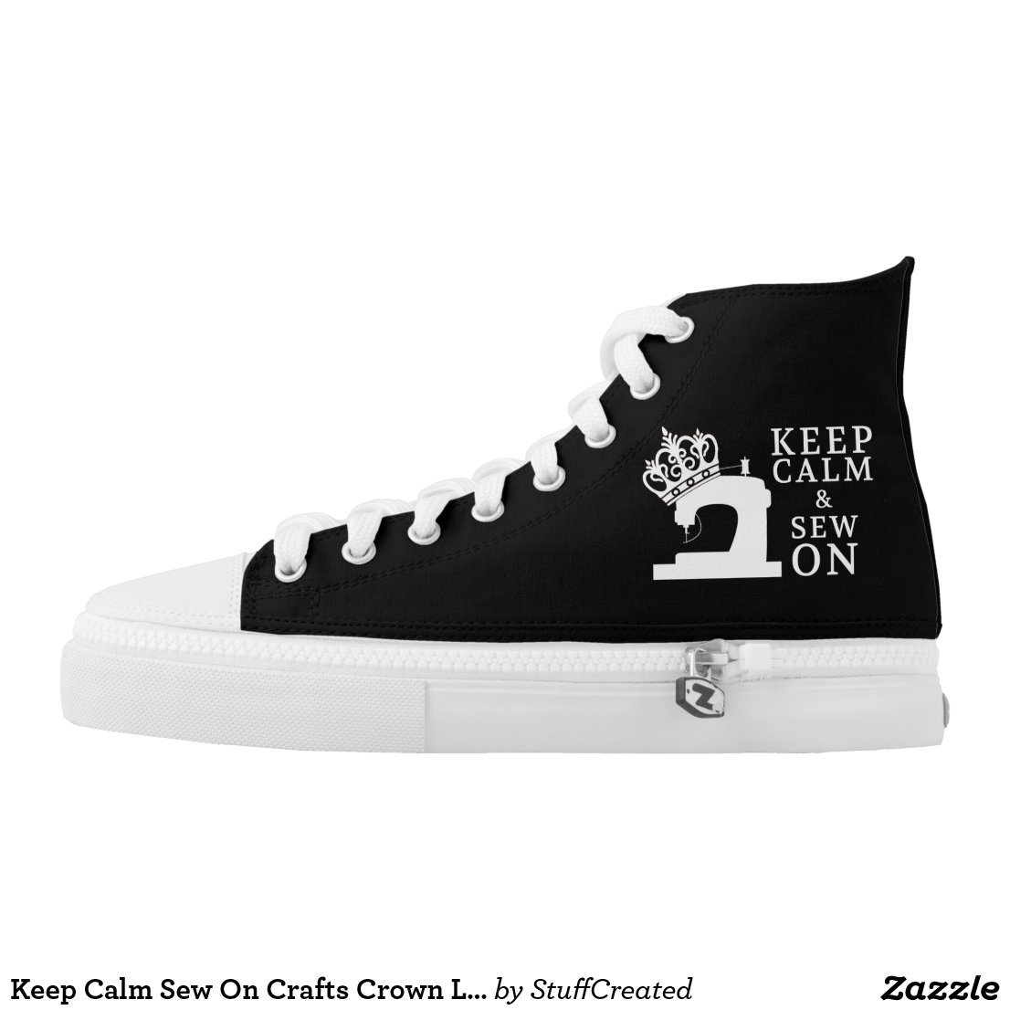 Keep calm & sew on hightop shoes