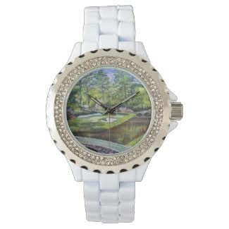 Golf Land Painting on a Ladies Watch
