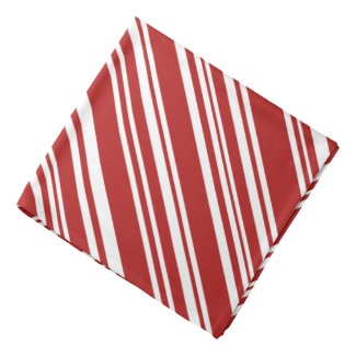 Red and White Candy Stripes Bandana