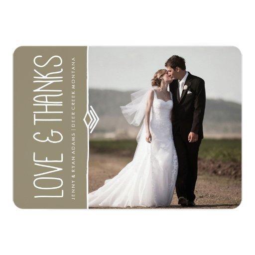 """MODERN THANK YOU WEDDING CARDS 5"""" X 7"""" INVITATION CARD"""