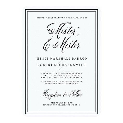 Personalized Civil Ceremony Invitations