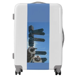 South African Signpost + Penguins Luggage Suitcase