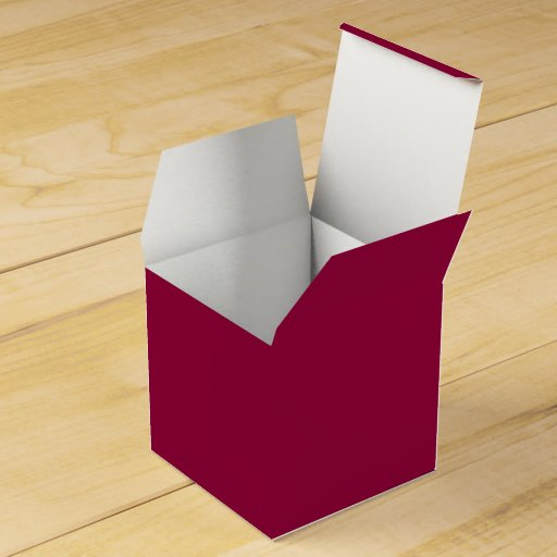 Solid Red Wine Party Favor Boxes