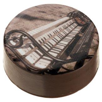 Piano bench chocolate covered oreo