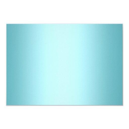Elegant Diamond Blue RSVP 3.5x5 Paper Invitation Card (back side)