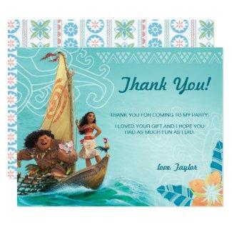 Moana Birthday Thank You Card