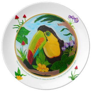Keel-Billed Toucan Dinner Plate