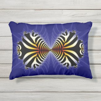Kissing Fish Outdoor Pillow