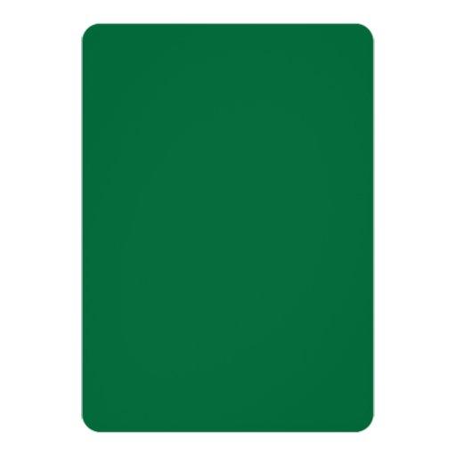 "Green Elegant Monogram Graduation Announcement 5"" X 7"" Invitation Card (back side)"