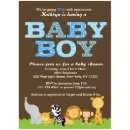 Safari Baby Boy Shower Invitation Zazzle Com