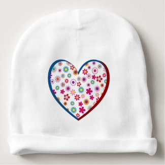 Baby's Floral Heart Cap Baby Beanie