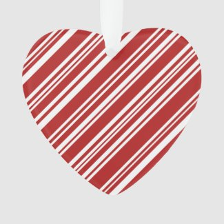 Peppermint Stripes, Red and White Ornament