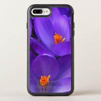 Purple Crocus Flowers OtterBox Symmetry iPhone 7 Plus Case