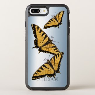 Yellow Black Tiger Swallowtail Butterfly OtterBox Symmetry iPhone 7 Plus Case