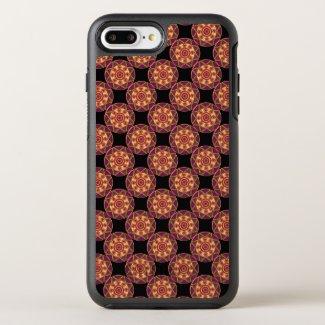 Orange Mandala Mosaic OtterBox Symmetry iPhone 7 Plus Case