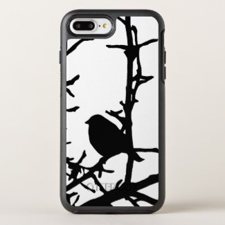 Black Bird in Tree Branches Animal OtterBox Symmetry iPhone 7 Plus Case
