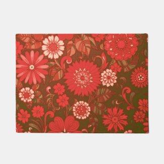 Red Daisy Art Deco Doormat