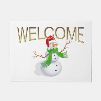 Snowman Welcome Doormat