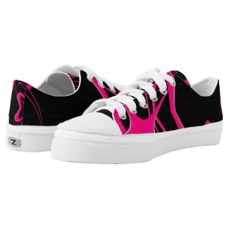 Heart of Shocking Pink Low-Top Sneakers