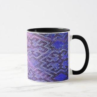 Blue carpet with sunbeams mug