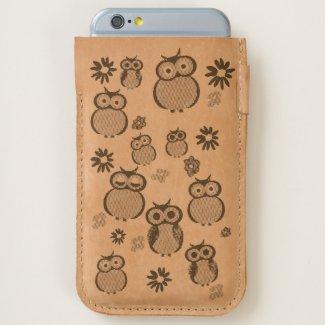 Cute owl pattern iPhone 6/6S case