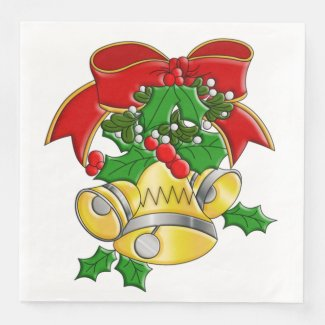 Christmas Bells Paper Napkin