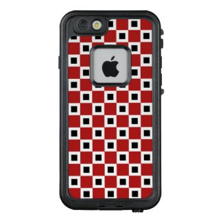 Red, White and Black Checkered Squares LifeProof® FRĒ® iPhone 6/6s Case