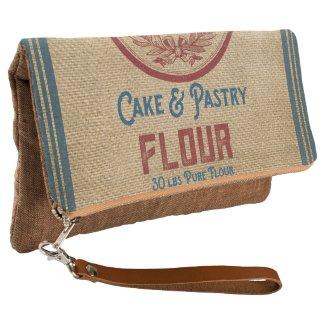 Vintage Flour Sack burlap styled Feed Sack Clutch