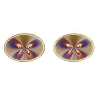 Pretty Butterfly Wings Gold Cufflinks