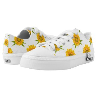 Sunflower Low Tops Printed Shoes
