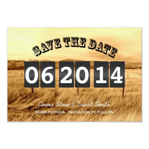 """Rustic Country Wedding Save the Date Announcements 3.5"""" X 5"""" Invitation Car..."""