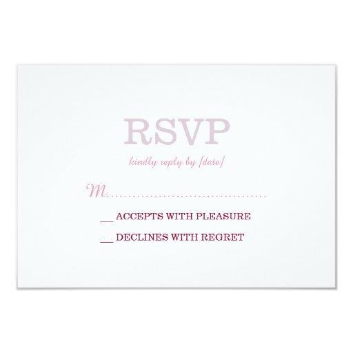 Elegant Plain Basic Minimal RSVP 3.5x5 Paper Invitation Card