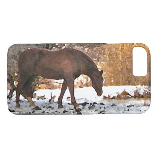 Brown Horse in Winter Animal iPhone 7 Case