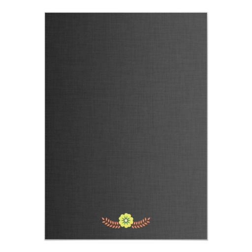 Elegant Swirl Floral Nature Whimsical Wedding 5x7 Paper Invitation Card (back side)